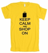 Keep Calm And Shop On American Apparel T-Shirt