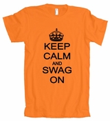 Keep Calm And Swag On American Apparel T-Shirt