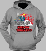 Keep On Truckin Retro 70's Vintage Car Cool Hoodie T-Shirt