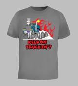 Keep On Truckin Retro 70's Vintage Car Cool Tee T-Shirt