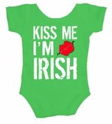 Kiss Me I'm Irish St. Patrick's Day Infant Body Suit