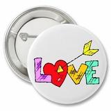 "Love Arrow Valentine's 2.25"" Button"