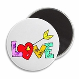 "Love Arrow Valentine's 2.25"" Magnet"
