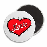 "Love Heart 2.25"" Magnet"