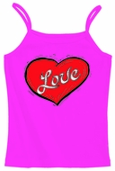 Love Heart Cool Womens Spaghetti Strap Tank