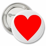"Love Heart Valentine's 2.25"" Button"