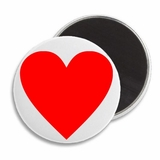 "Love Heart Valentine's 2.25"" Fridge Magnet"