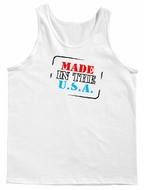 Made In The USA State County  Men's Tank Top