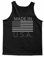 Made In U.S.A. USA Gray Style Men's Tank Top