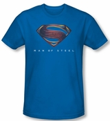 Man of Steel Mos New Logo Royal Blue T-Shirt