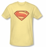 Superman Man Of Steel New Logo Solid Shield T-Shirt