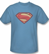 Superman Man Of Steel Logo Solid Shield T-Shirt