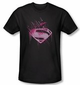 Man of Steel Pink Splatter T-Shirt