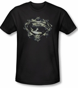 Man of Steel Skull and Symbols T-Shirt