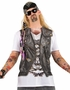 Mens Tattoo Sleeves Biker PhotoRealistic Costume T-Shirt