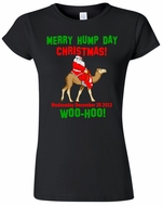 Merry Hump Day Christmas Ladies Junior Fit T-Shirt