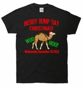 Merry Hump Day Christmas Santa Hat Camel T-Shirt