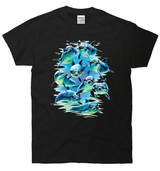 Mod Squad Dolphins Sun Glasses Funny 3D T-Shirt