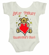 My First 1st Valentine's Day Baby Body Suit