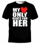 My Heart Only Beats For Her T-Shirt