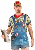 PhotoRealistic Hillbilly Overalls T-Shirt
