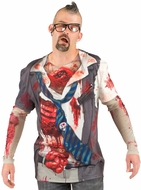 PhotoRealistic Mens Zombie Costume T-Shirt