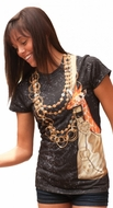 PhotoRealistic Mini Giraffe in Purse T-Shirt