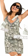 PhotoRealistic Money Dress Ladies T-Shirt