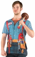 PhotoRealistic Plumber Costume T-Shirt