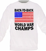 Retro Back to Back World War Champs Crewneck Sweater