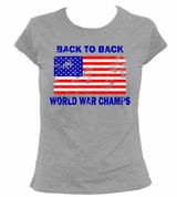 Retro Back To Back World War Champs Women's T-Shirt