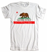 Retro Califormia Republic Flag American Apparel T-Shirt