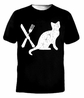 Retro Eat Pussy Funny Cat Spoon and Fork T-Shirt