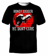 Retro Honey Badger He Dont Care T-Shirt