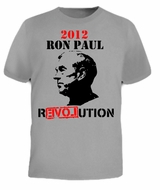 Ron Paul REVOLUTION War Libertarian 2012 Face T-shirt