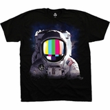 Space Station USA Astronaut Black T-Shirt