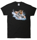 Splash Tiger 3D T-Shirt
