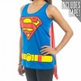 Superman Logo Juniors Cape Tank Top