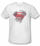 Superman Man of Steel Face & Logo T-Shirt
