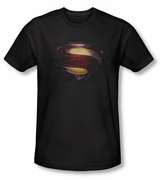 "Superman Man of Steel Grungy ""S"" Shield T-Shirt"
