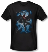Superman Man of Steel Lightning T-Shirt