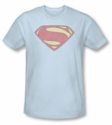 Superman Man of Steel MOS Distressed Shield T-Shirt