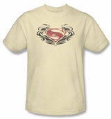 Superman Man of Steel MOS Flourish Logo T-Shirt