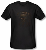 Superman Man of Steel Mos Glyph Shield T-Shirt