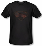 Superman Man of Steel Mos Iron Rust T-Shirt