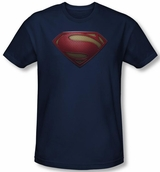 "Superman Man of Steel ""S"" Logo Shield T-Shirt"