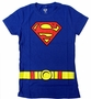 Superman Supergirl Logo Suit Ladies Junior Fit T-Shirt