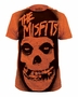 The Misfits Stencil Skull Official Orange T-Shirt