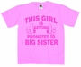 This Girl Is Getting Promoted To Big Sister Youth T-Shirt
