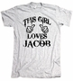 This Girl Loves Jacob Team American Apparel T-Shirt